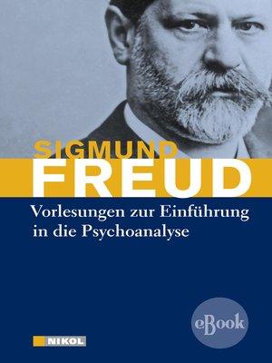 cover image of Vorlesungen zur Einführung in die Psychoanalyse