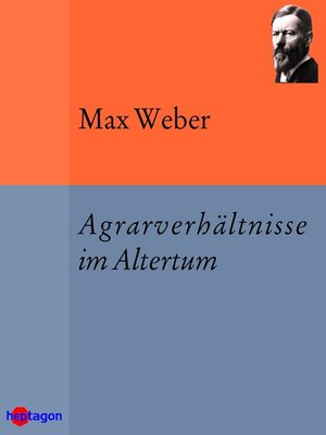 cover image of Agrarverhältnisse im Altertum
