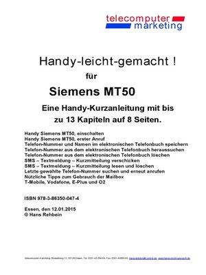cover image of Siemens MT50-leicht-gemacht
