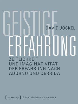 cover image of Geistige Erfahrung