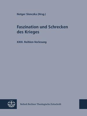 cover image of Faszination und Schrecken des Krieges