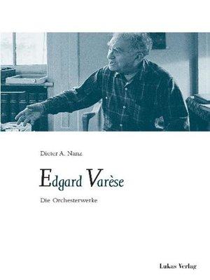 cover image of Edgard Varèse