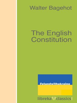 cover image of The English Constitution