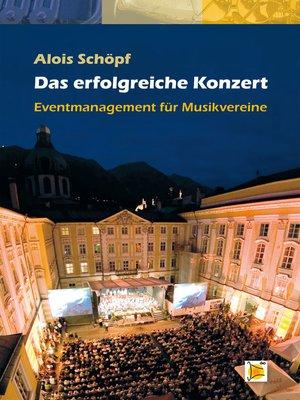 cover image of Das erfolgreiche Konzert