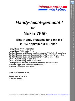 cover image of Nokia 7650-leicht-gemacht