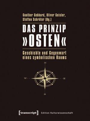 cover image of Das Prinzip »Osten«