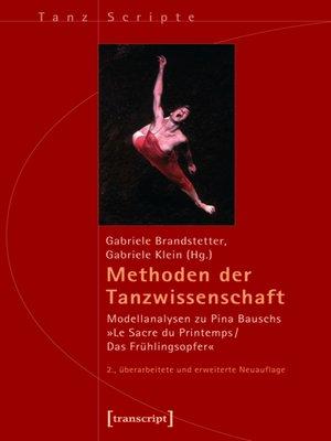 cover image of Methoden der Tanzwissenschaft