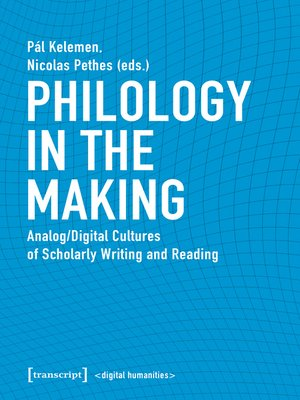 cover image of Philology in the Making