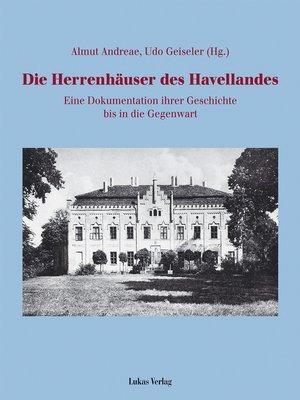 cover image of Die Herrenhäuser des Havellandes