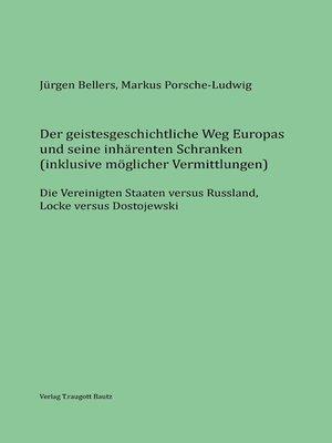 cover image of Der geistesgeschichtliche Weg Europas und seine inhärenten Schranken