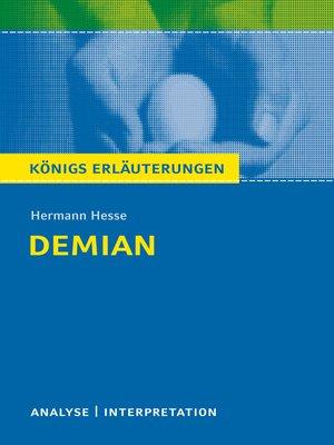 cover image of Demian. Königs Erläuterungen