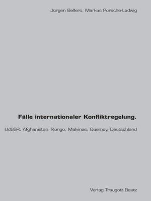 cover image of Fälle internationaler Konfliktregelung.