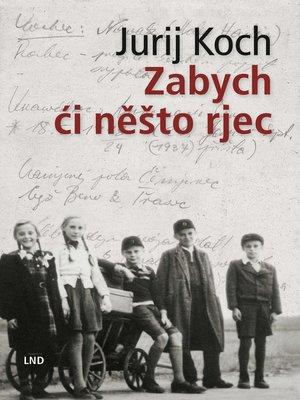 cover image of Zabych ći něšto rjec