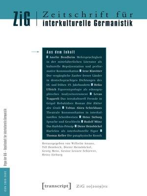 cover image of Serie Zeitschrift für interkulturelle Germanistik, Buch 19
