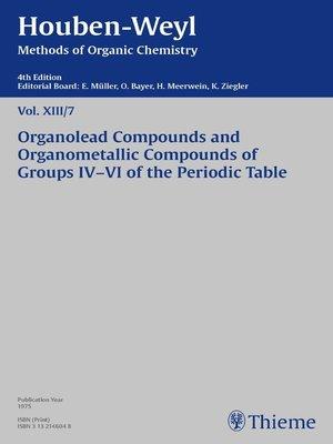 cover image of Houben-Weyl Methods of Organic Chemistry Volume XIII/7