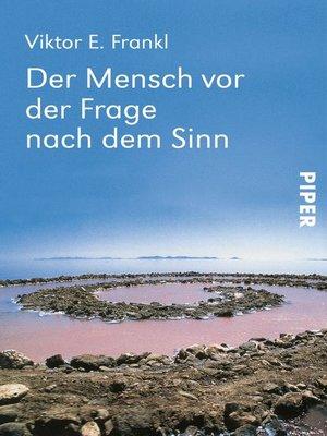 cover image of Der Mensch vor der Frage nach dem Sinn