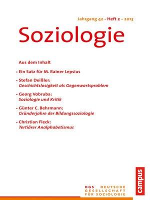 cover image of Soziologie 2.2013