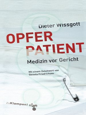 cover image of Opfer Patient