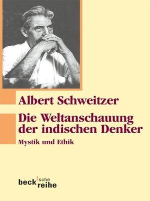 cover image of Die Weltanschauung der indischen Denker