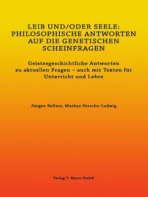 cover image of LEIB UND/ODER SEELE