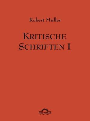 cover image of Kritische Schriften 1