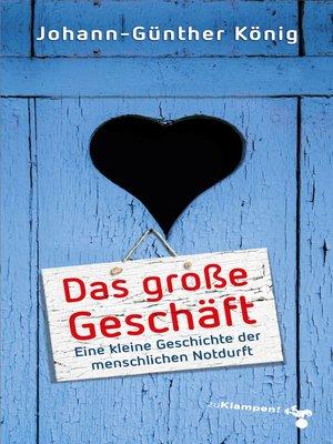 cover image of Das große Geschäft