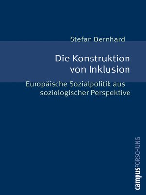 cover image of Die Konstruktion von Inklusion