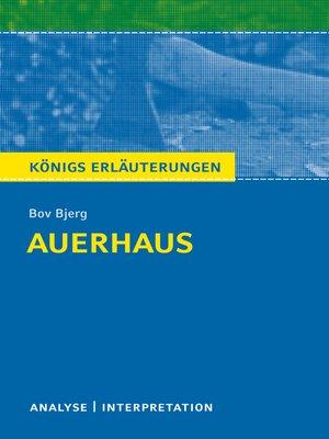 cover image of Auerhaus. Königs Erläuterungen.
