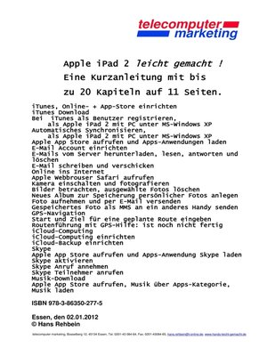 cover image of apple iPad 2 leicht-gemacht