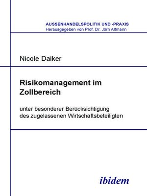 cover image of Risikomanagement im Zollbereich