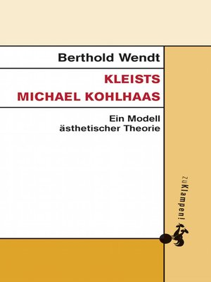 cover image of Kleists Michael Kohlhaas
