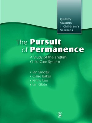 cover image of The Pursuit of Permanence