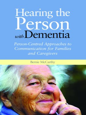 cover image of Hearing the Person with Dementia