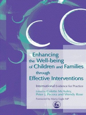 cover image of Enhancing the Well-being of Children and Families through Effective Interventions