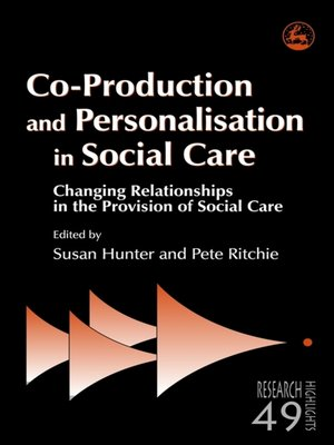cover image of Co-Production and Personalisation in Social Care