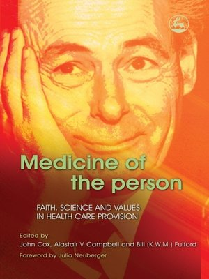 cover image of Medicine of the Person