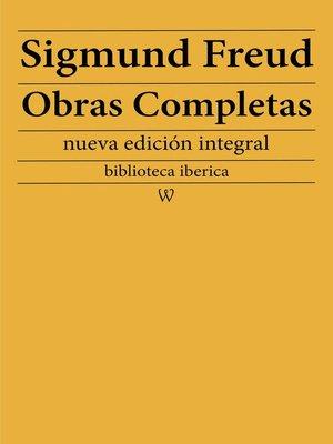 cover image of Sigmund Freud: Obras Completas