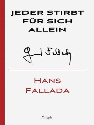 cover image of Jeder stirbt für sich allein