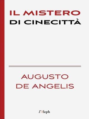 cover image of Il mistero di Cinecittà