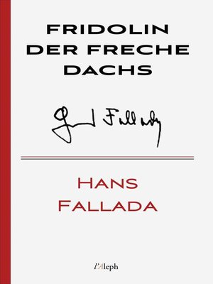cover image of Fridolin der freche Dachs