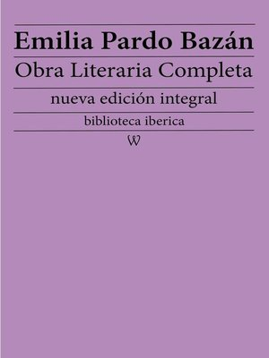 cover image of Emilia Pardo Bazán