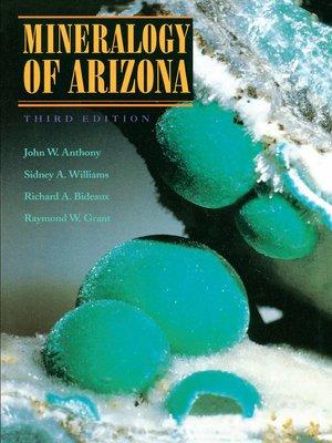 cover image of Mineralogy of Arizona