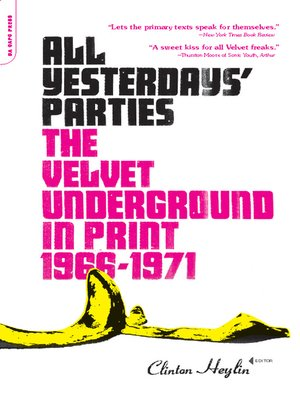 cover image of All Yesterdays' Parties