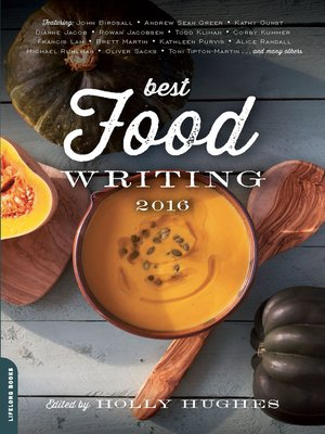 cover image of Best Food Writing 2016