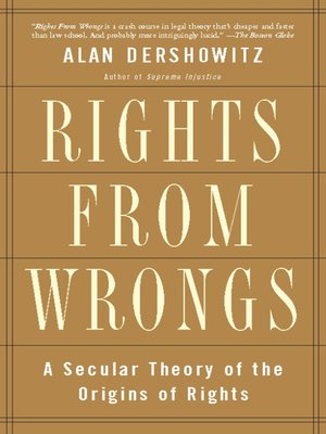 cover image of Rights from Wrongs