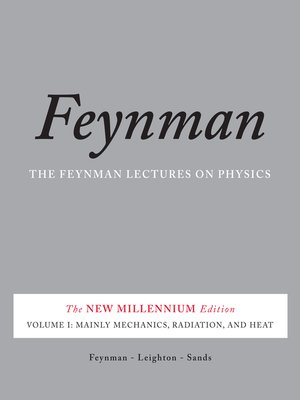 cover image of The Feynman Lectures on Physics, Volume I