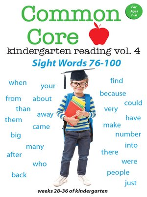 cover image of Common Core Kindergarten Reading: Sight Words, Volume 4