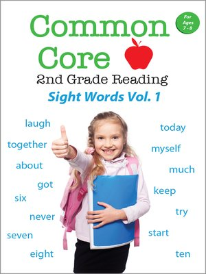 cover image of Common Core 2nd Grade Reading: Sight Words, Volume 1