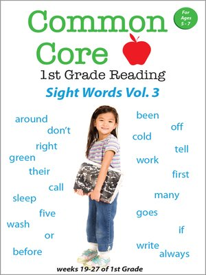 cover image of Common Core 1st Grade Reading: Sight Words, Volume 3