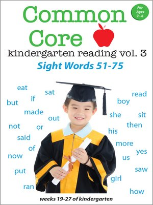 cover image of Common Core Kindergarten Reading: Sight Words, Volume 3
